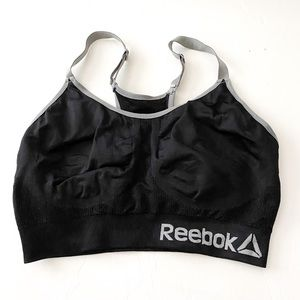 Reebok black sports bra